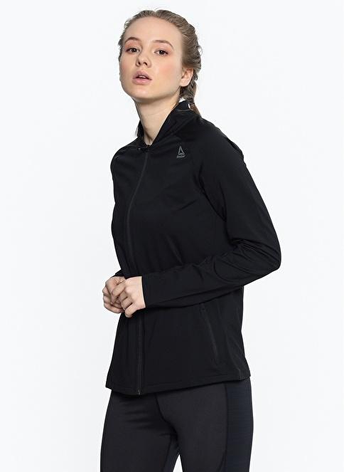 Reebok Fermuarlı Sweatshirt Siyah